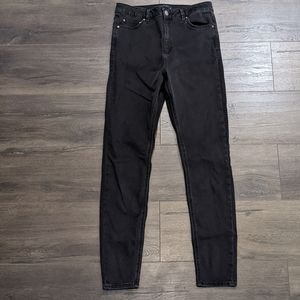 ASOS Ridley High Rise Skinny Jeans in Black Size 30